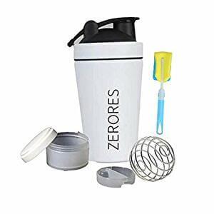 ZERORES ステンレススチールスポーツウォーターボトルシェーカーカップ