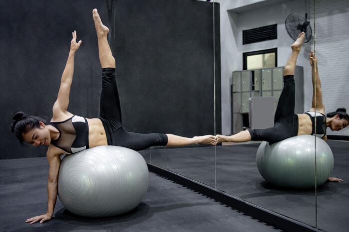バランスボール 身体のインナーマッスルを鍛えることができる