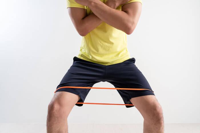 スクワットダイエット トレーニングチューブ