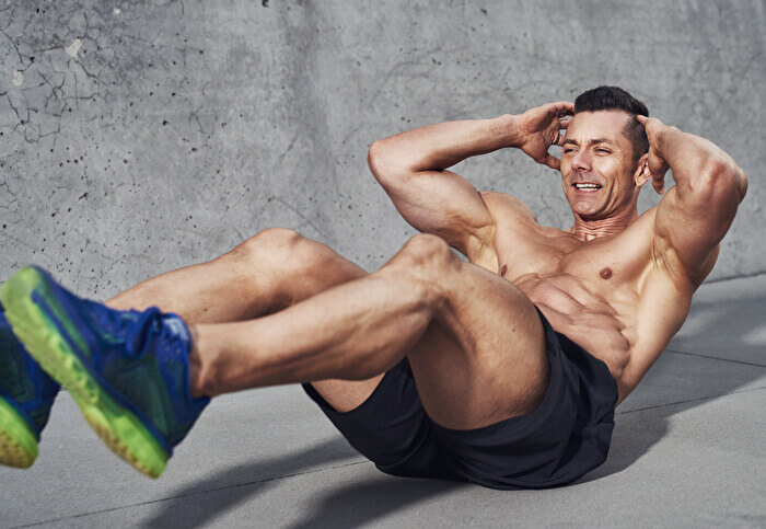 バイシクルクランチで鍛えられる筋肉