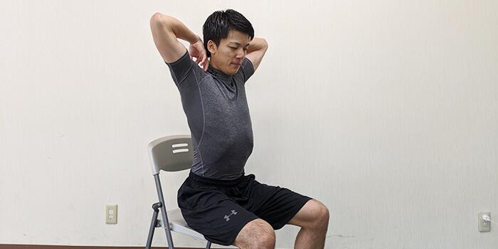 肘回し運動のやり方