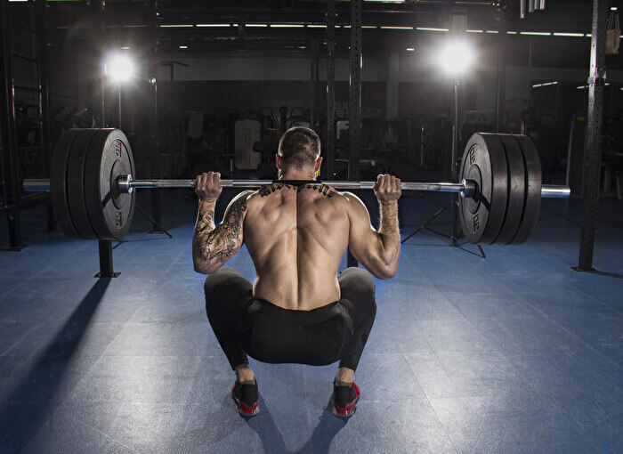 バーベルスクワットで鍛えられる筋肉