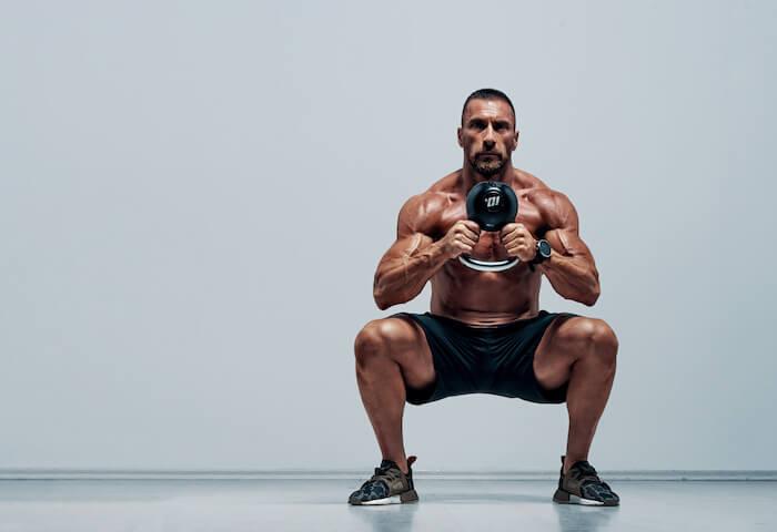 ダンベルスクワットで鍛えられる3つの筋肉