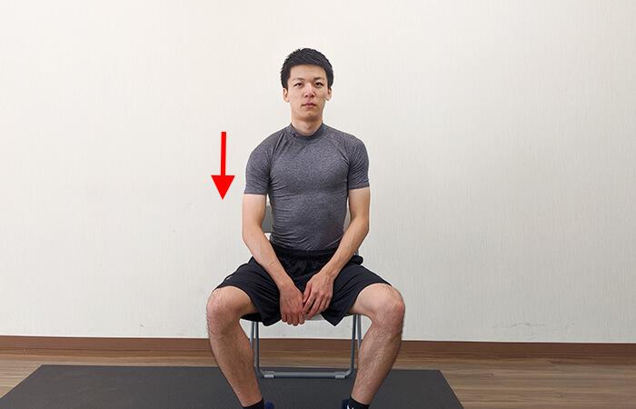 首のストレッチ(座ったまま)