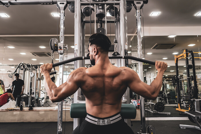 ラットプルダウンで鍛えられる筋肉部位