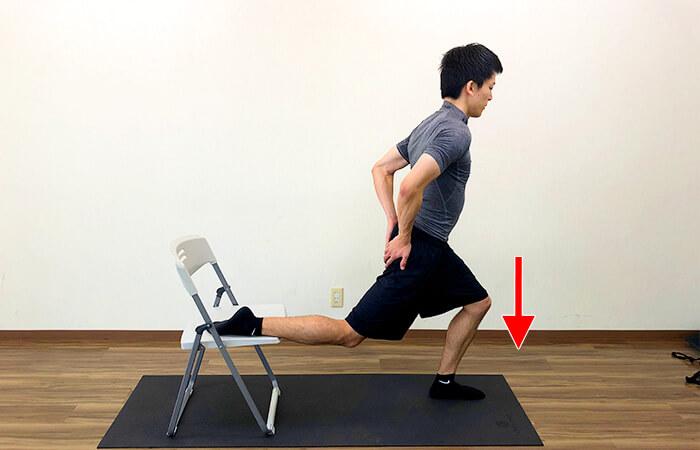 2.椅子を使った腸腰筋ストレッチ②