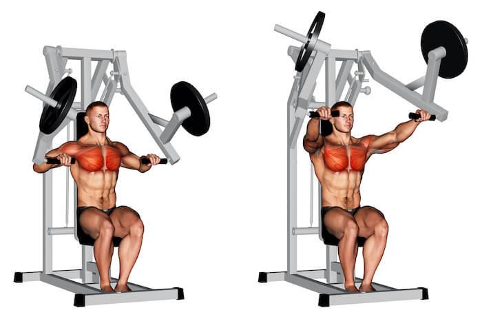 チェストプレスで鍛えられる筋肉