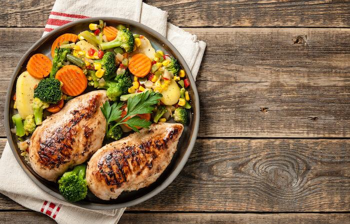 塩麹鶏ささみと蒸し野菜