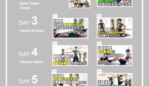 【1週間スケジュール】初心者におすすめの自宅&簡単にできる筋トレメニュー